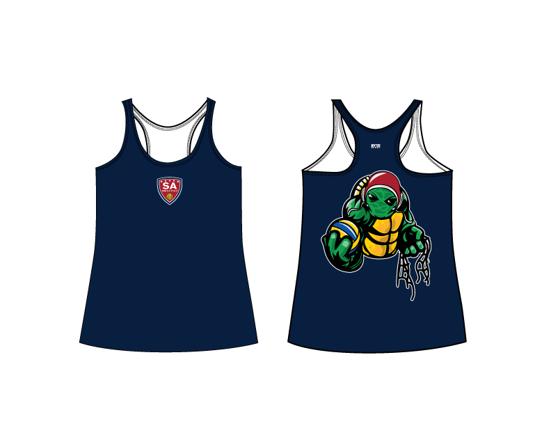 SA Water Polo Club - SHELLBACKS 2019 Custom Women's Racerback Tank Top
