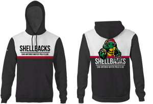 SA Water Polo Club - SHELLBACKS 2019 Custom Heathered Color Unisex Adult Hooded Sweatshirt