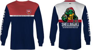 SA Water Polo Club - SHELLBACKS 2019 Shield Custom Long Sleeve Men's T-Shirt