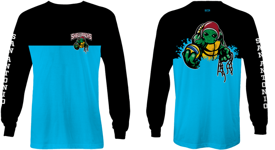 SA Water Polo Club - SHELLBACKS 2019 Blue Custom Long Sleeve Men's T-Shirt