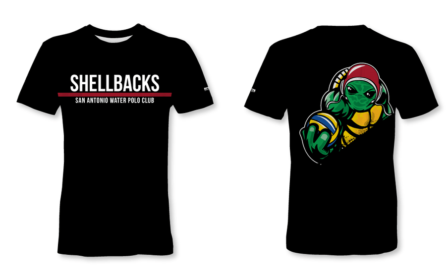 SA Water Polo Club - SHELLBACKS 2019 Black Custom Men's T-Shirt