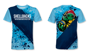SA Water Polo Club - SHELLBACKS 2019 Blue Custom Men's T-Shirt