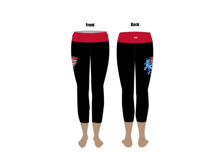 Long Beach Shore Water Polo Club Custom Women's Cropped Legging