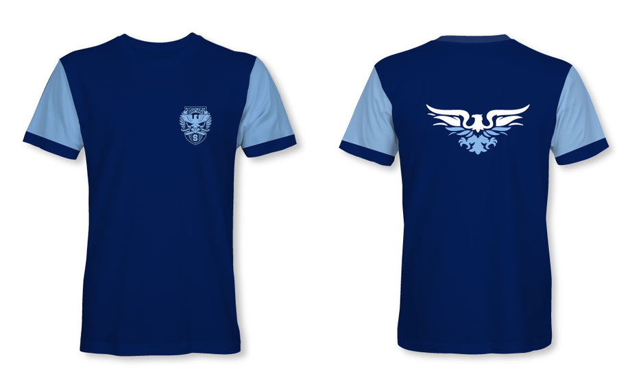 Skyline High School Water Polo 2019 Custom Men's Blue T-Shirt - Personalized