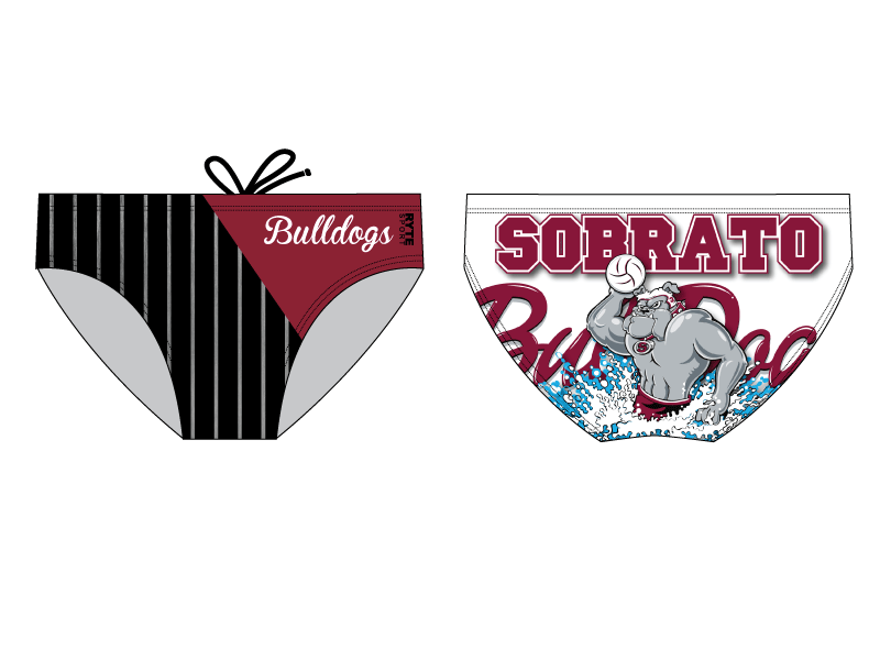 Sobrato High School Water Polo 2019 Custom Men's Water Polo Brief - Personalized