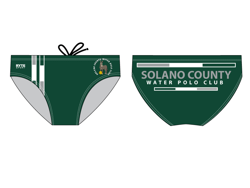 Solano County Water Polo Club Custom Men's Swim & Water Polo Brief