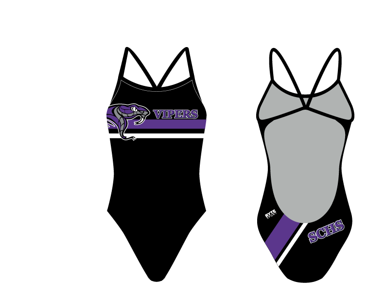 Space Coast High School Swim 2020 Custom Women's Open Back Thin Strap Swimsuit
