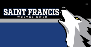 Saint Francis Catholic Academy Swim Team 2020 Custom Towel - Personalized