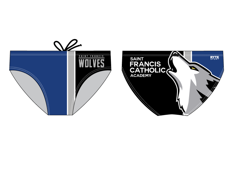 Saint Francis Catholic Academy Swim Team 2020 Custom Men's Swim Brief - Personalized