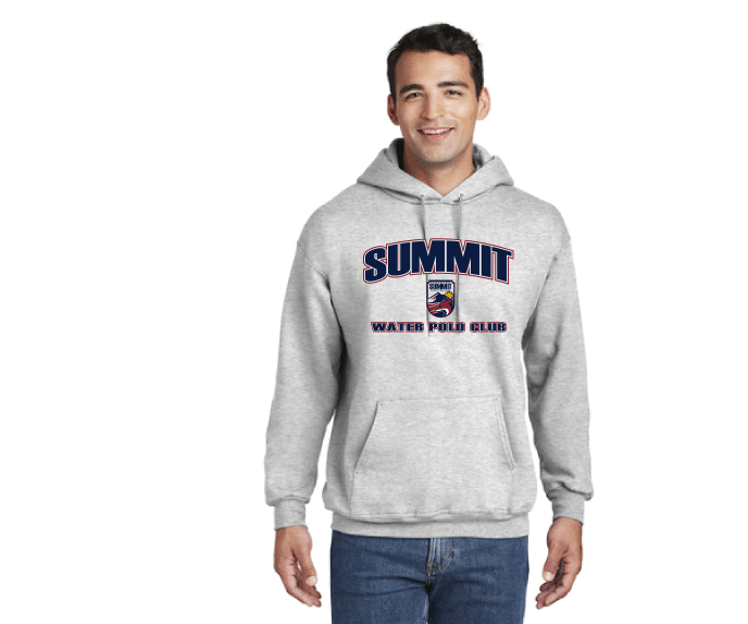 Summit Water Polo Club Custom Ash Ultimate Cotton Pullover Hooded Sweatshirt