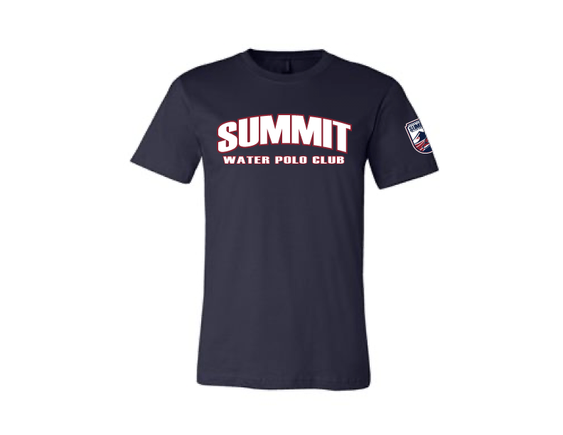 Summit Water Polo Club Custom Navy Cotton Unisex T-Shirt