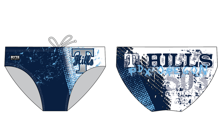 T-Hills Water Polo Club Custom Men's Water Polo Suit