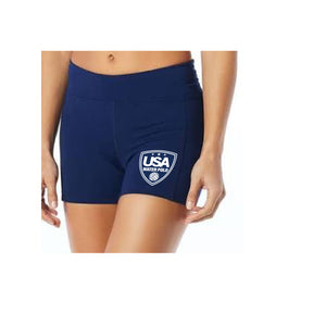 USA Water Polo - TYR Women's Navy Kalani Short