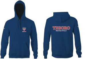 Tesoro High School Water Polo 2019 Custom Heathered Navy Unisex Adult Hooded Sweatshirt