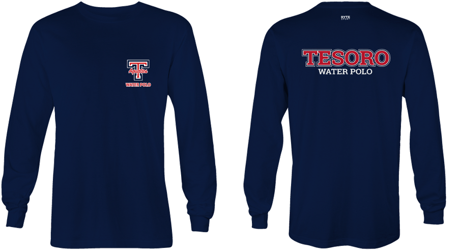 Tesoro High School Water Polo 2019 Custom Navy Long Sleeve Men's T-Shirt