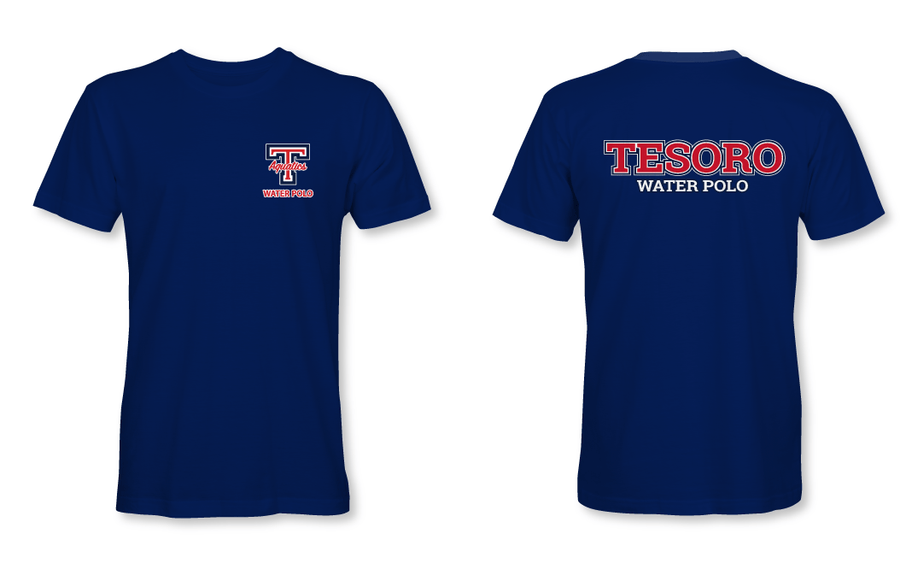 Tesoro High School Water Polo 2019 Custom Navy Men's T-Shirt