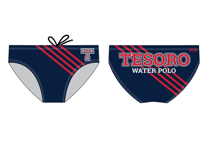 Tesoro High School Water Polo 2019 Custom Men's Water Polo Brief - Personalized