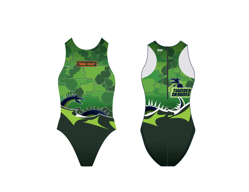 Third Coast Aquatics Green Custom Women's Water Polo Suit