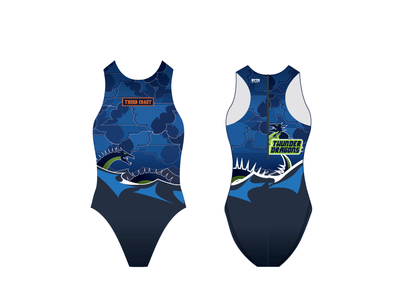 Third Coast Aquatics Blue Custom Women's Water Polo Suit