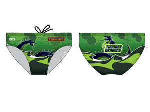 Third Coast Aquatics Green Custom Men's Swim & Water Polo Brief