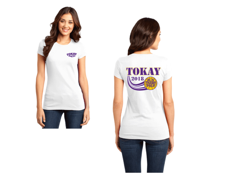 Tokay High School Water Polo Custom Women's Fitted Crew Neck T-Shirt