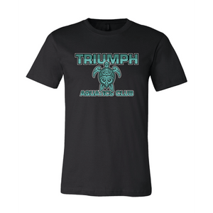 Triumph Aquatics Club Custom Black Cotton Unisex T-Shirt