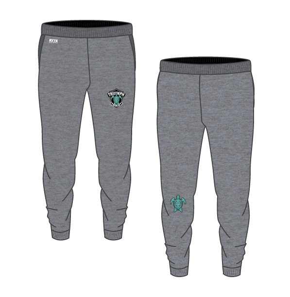 Triumph Aquatics Club Gray Custom Adult Unisex Heathered Jogger Sweatpants