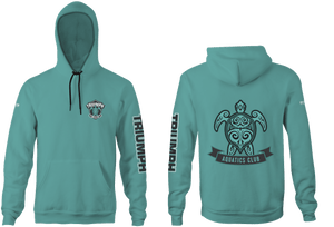 Triumph Aquatics Club Custom Vintage Heathered Unisex Adult Hooded Sweatshirt