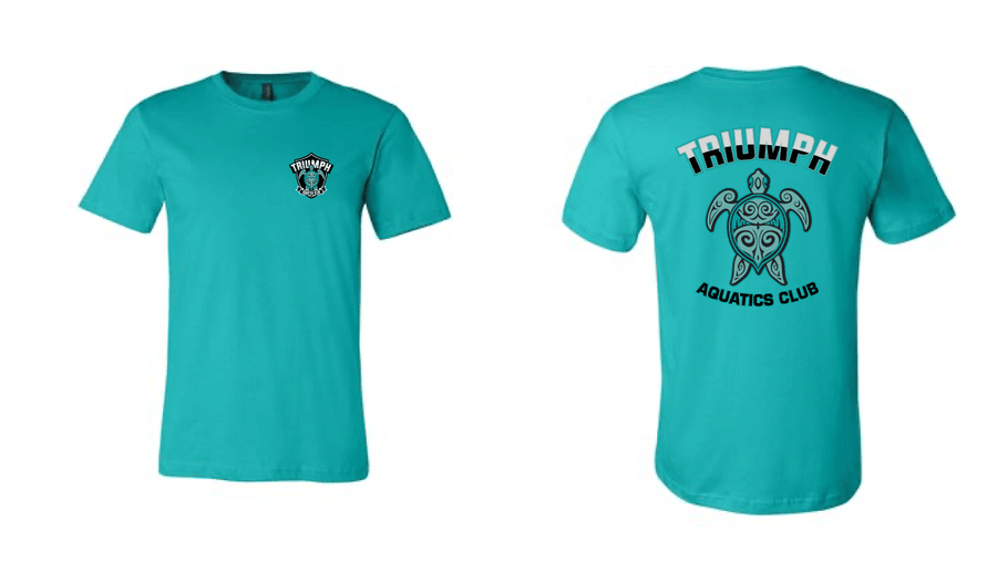 Triumph Aquatics Club Custom Teal Cotton Unisex T-Shirt