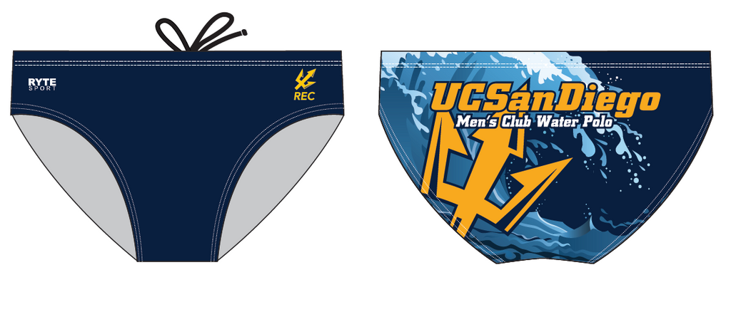 UCSD Club Water Polo Custom Men's Water Polo Brief
