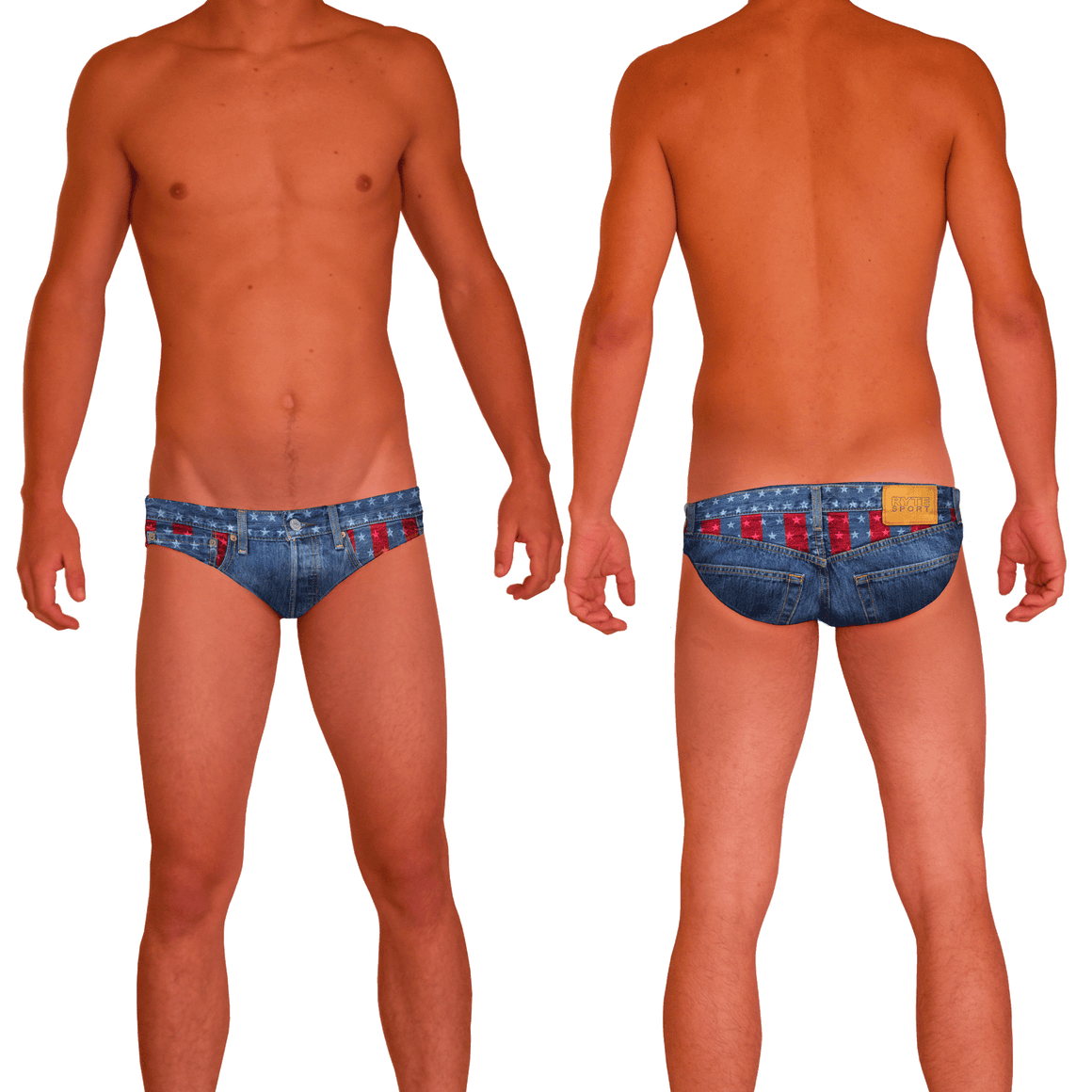 USA Denim Men's Swim & Water Polo Brief