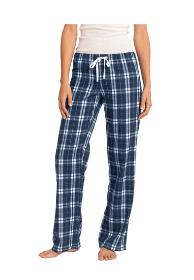 University High School Water Polo 2019 Custom Navy Women's Flannel Plaid Pant