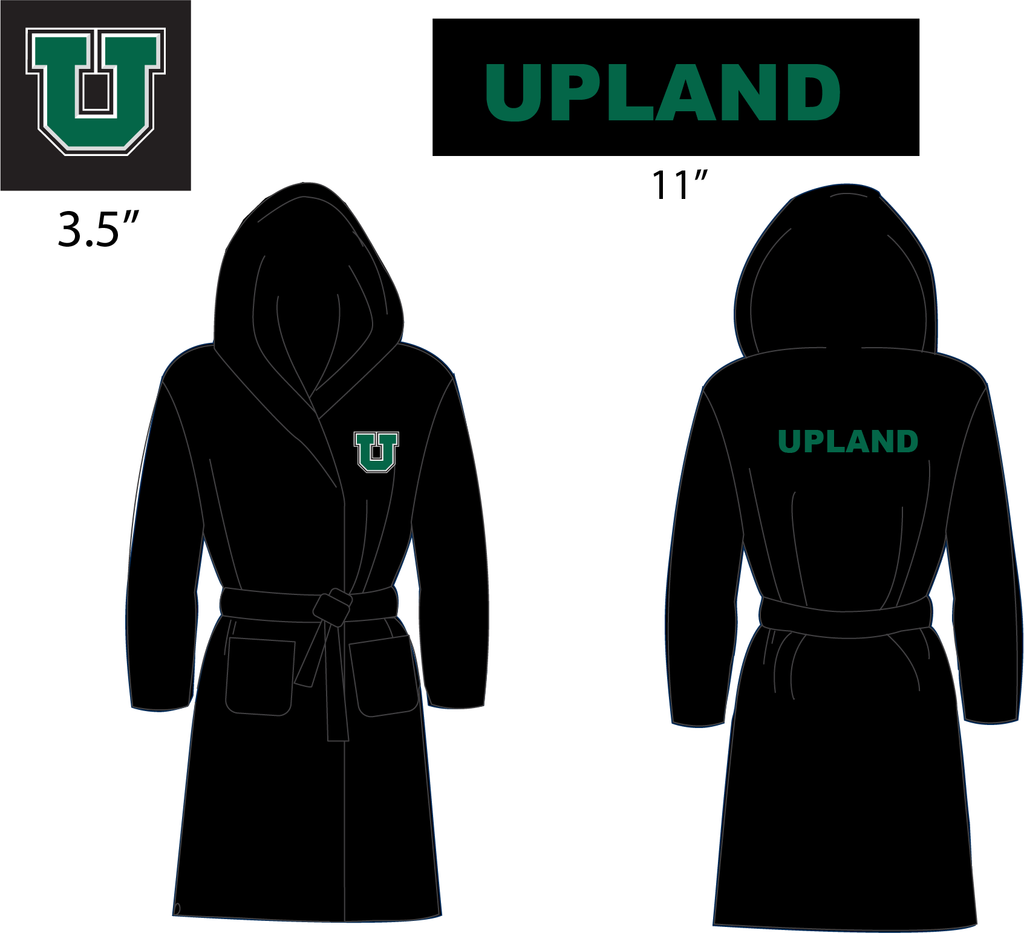 Upland High School Boys Water Polo Custom Terry Cloth Robe