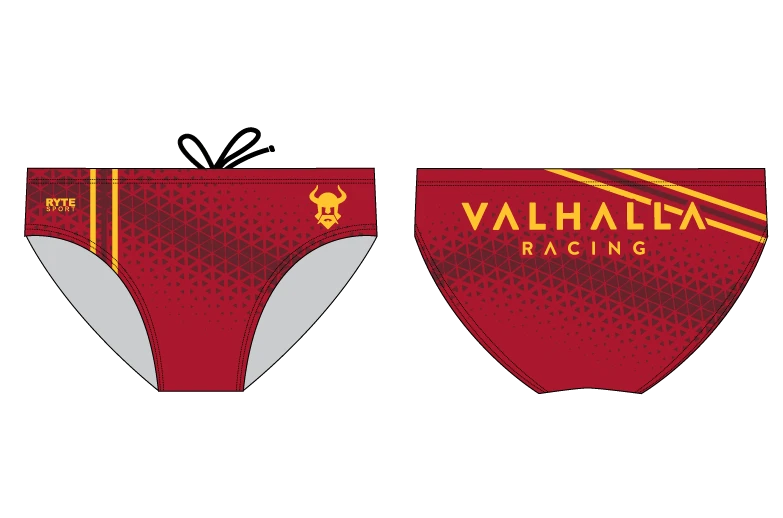 Valhalla Racing Custom Red Men's Swim Brief