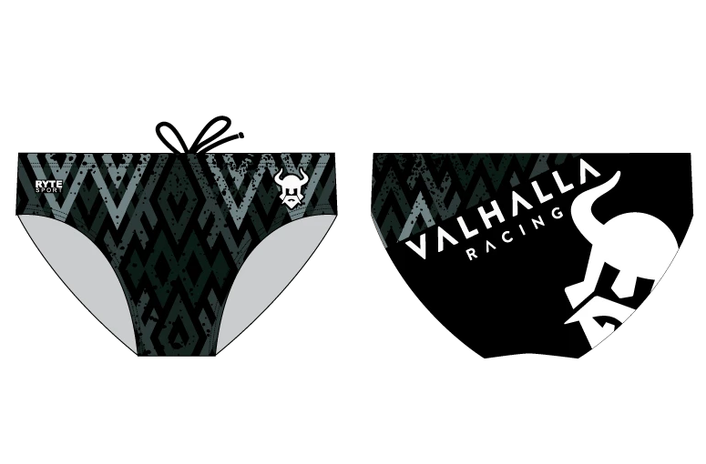 Valhalla Racing Custom Black Men's Swim Brief
