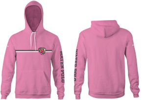 Valley High School Water Polo 2019 Custom Heathered Pink Unisex Adult Hooded Sweatshirt