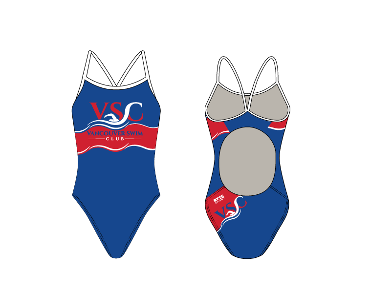 Vancouver Swim Club 2019 Custom Women's Active Back Thin Strap Swimsuit