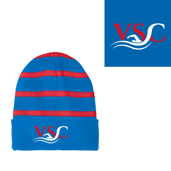 Vancouver Swim Club 2019 Custom Striped Beanie *CLOSE DATE TO PURCHASE IS 9/6*