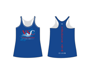 Vancouver Swim Club 2019 Custom Women's Racerback Tank Top