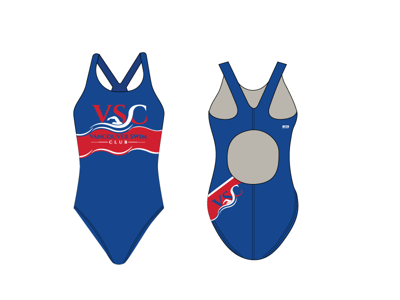 Vancouver Swim Club 2019 Custom Thick Strap Women's Swim Suit