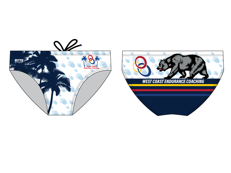 WCEC Endurance Team 2019 Custom Men's Swim Brief