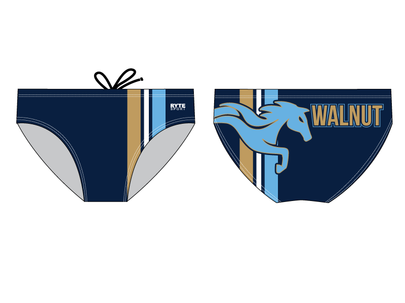 Walnut High School Water Polo Custom Men's Water Polo Brief - Personalized