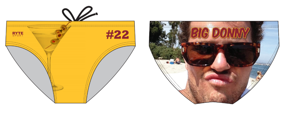 Big Donny Bachelor Party Custom Men's Swim & Water Polo Brief