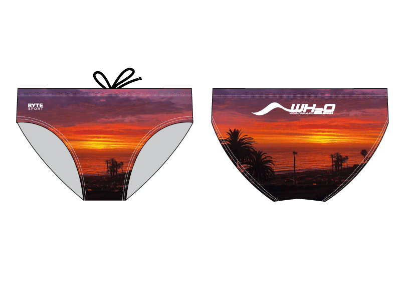 West Hollywood Aquatics 2020 Custom Men's Swim & Water Polo Brief