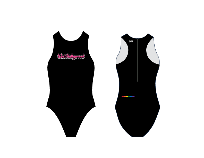 West Hollywood Aquatics 2019 Custom Women's Water Polo Suit