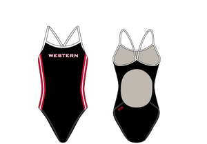 Western High School Swim 2020 Custom Women's Active Back Thin Strap Swimsuit