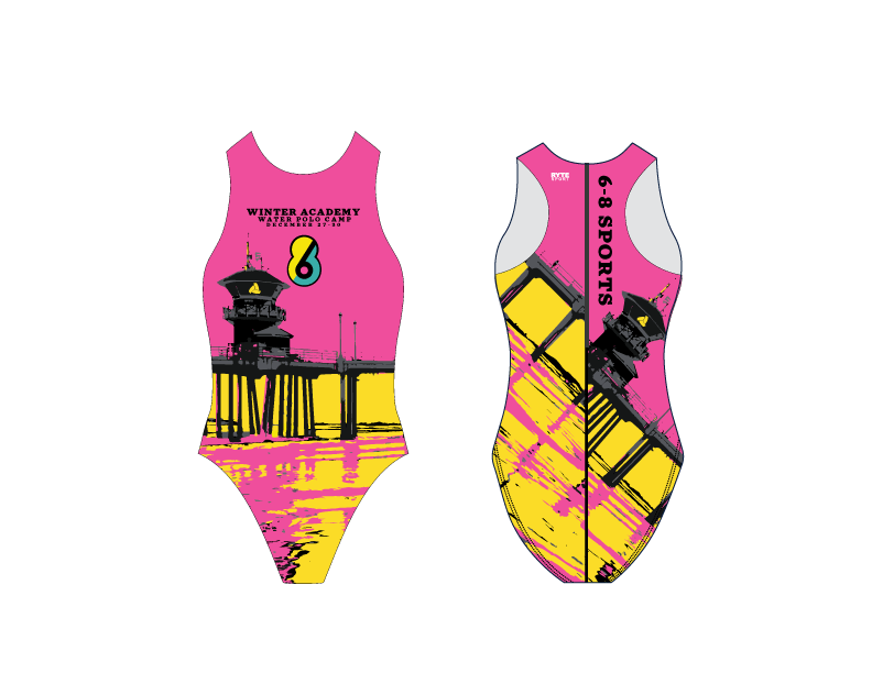 6-8 Sports Winter Academy - Huntington Beach - Custom Women's Water Polo Suit