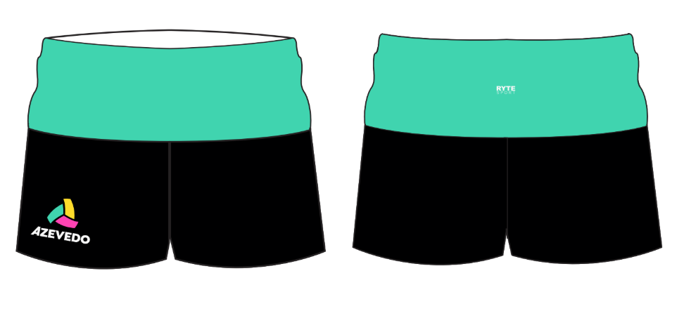 Azevedo Water Polo Black Yoga Short