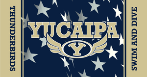 Yucaipa High School Swim 2019 Custom Towel - Personalized