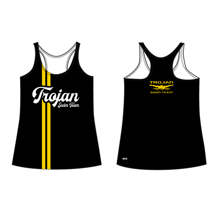 Yucca Valley High School Swim 2019 Custom Racerback Tank Top